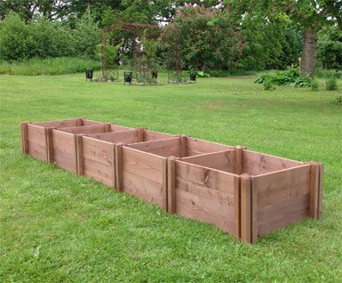 Mini Wooden Raised Bed Extendable Starter Kits Wooden Herb