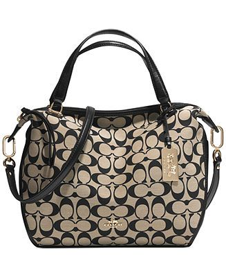 COACH MADISON SMYTHE SATCHEL IN PRINTED SIGNATURE FABRIC - All Handbags -  Handbags   Accessories - Macy s c57b559be48b8