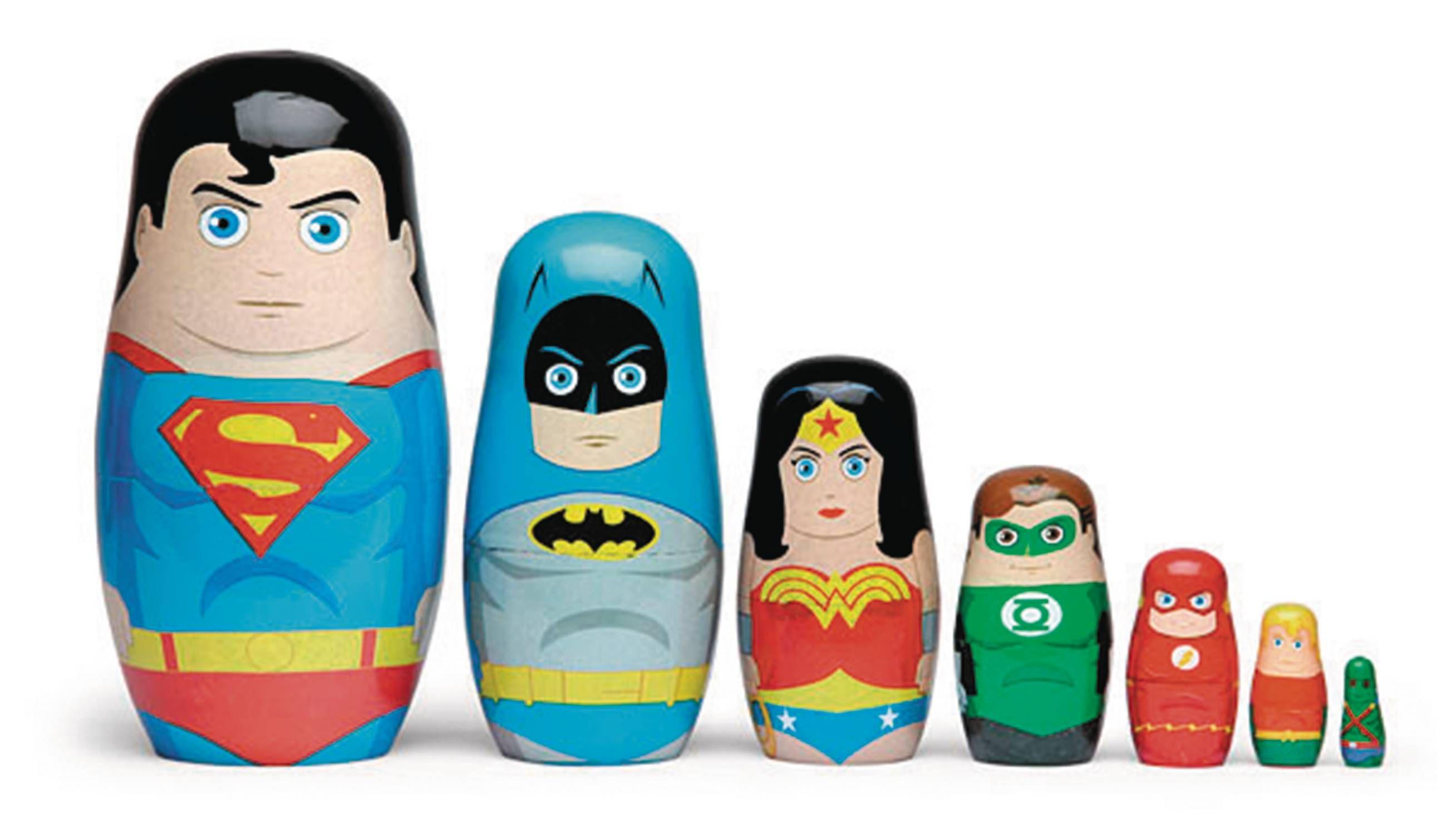batman nesting dolls dc comics justice league nesting dolls set