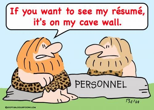 How did cavemen share resumes! For resume screening tips and