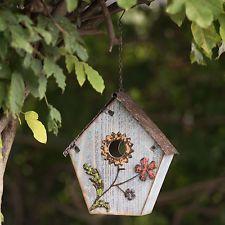 Sunjoy Flower 21.5 in x 11 in x 6 in Birdhouse