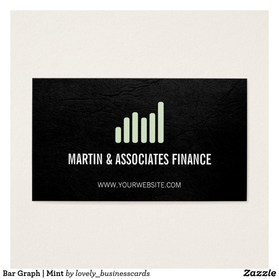 Bar Graph Mint Business Cards Find Under Finance