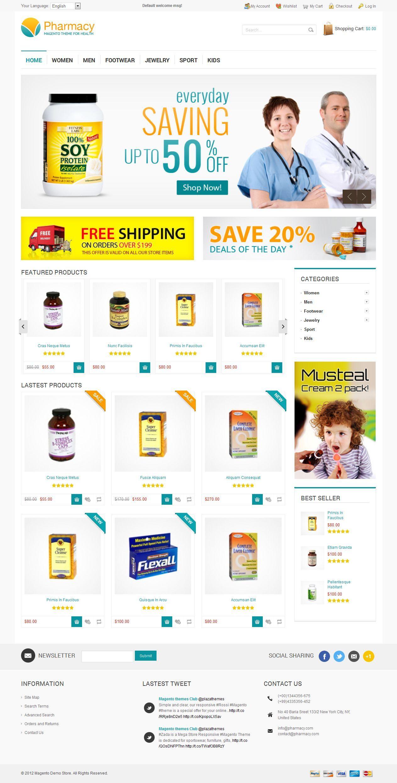 Pharmacy Responsive Magento Theme