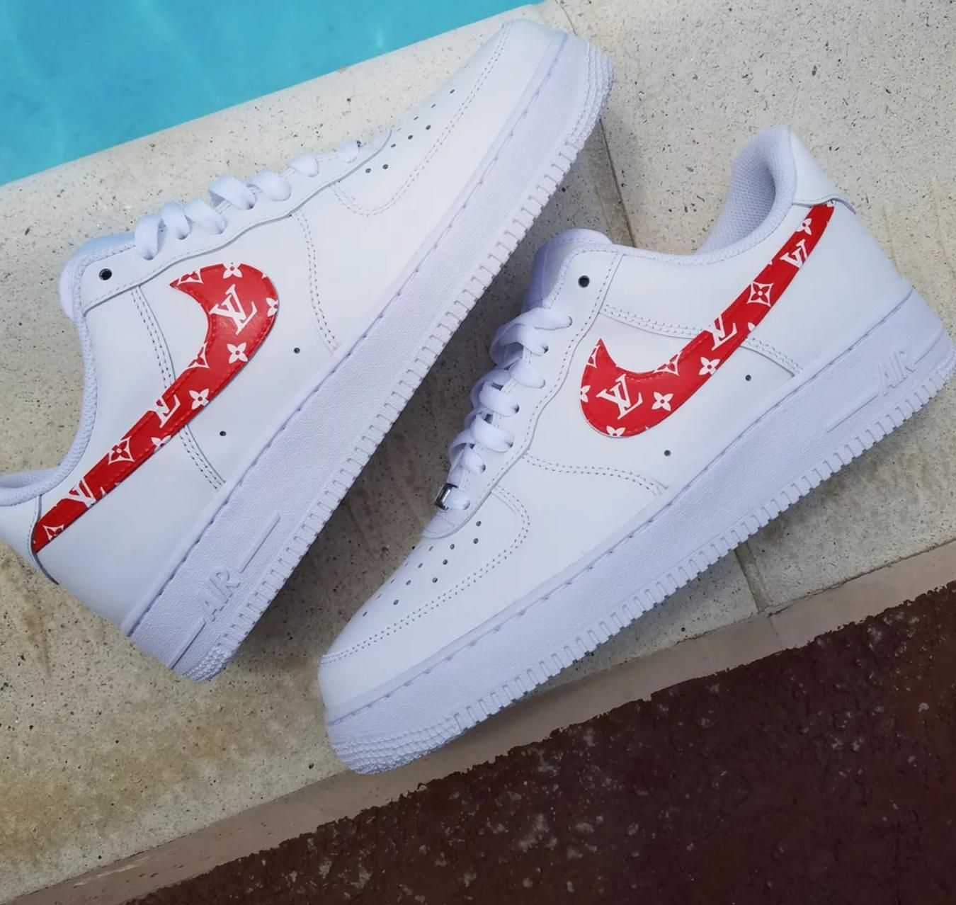 Supreme Louis Vuitton Air Force 1 (With images) Nike