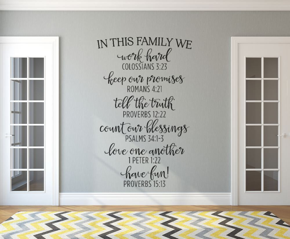Inspirational wall decal in this family black family rules inspirational wall decal in this family black family rules bible verse amipublicfo Image collections