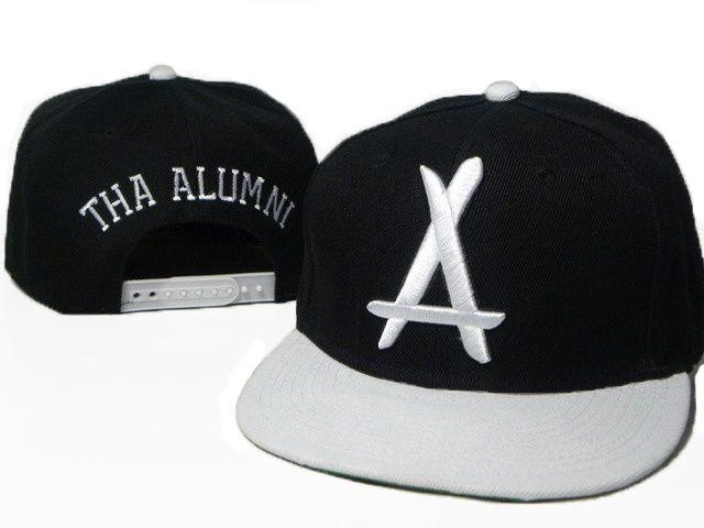 tha alumni snapback hats caps black white 5892 only 8 90usd