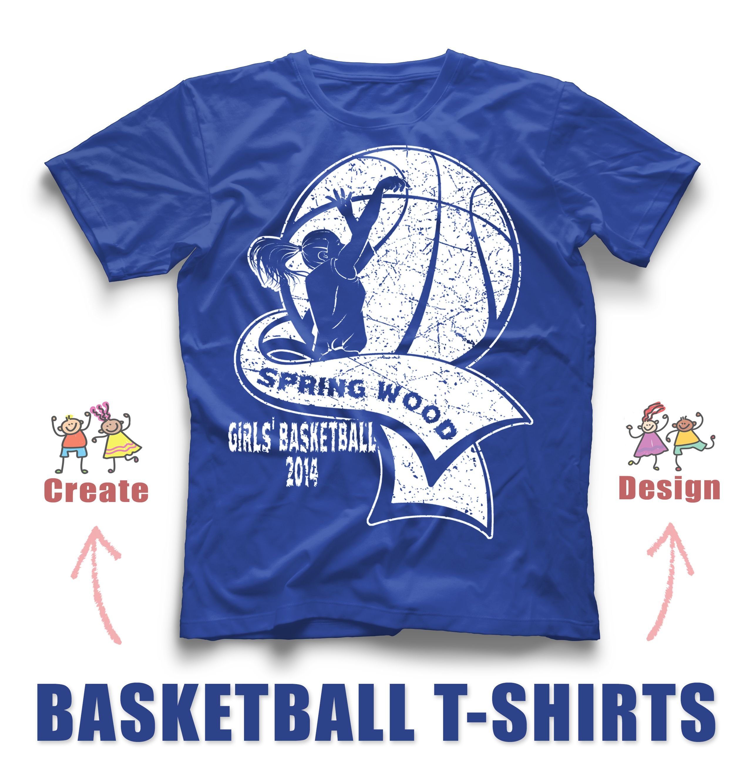 Girl S Basketball Custom T Shirt Design Awesome Design You Can Upload Your Design To Our Eas T Shirt Design Template Basketball T Shirt Designs Team T Shirts