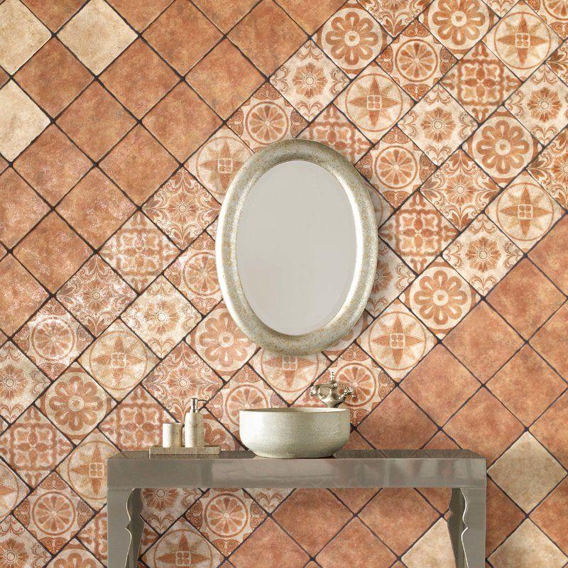 Diego 7 75 X 7 75 Ceramic Field Tile In Matte Beige Brown Wall Tiles Ceramic Floor Wall And Floor Tiles