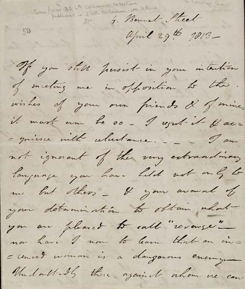A Love Letter From Lord Byron To Lady Caroline Lamb