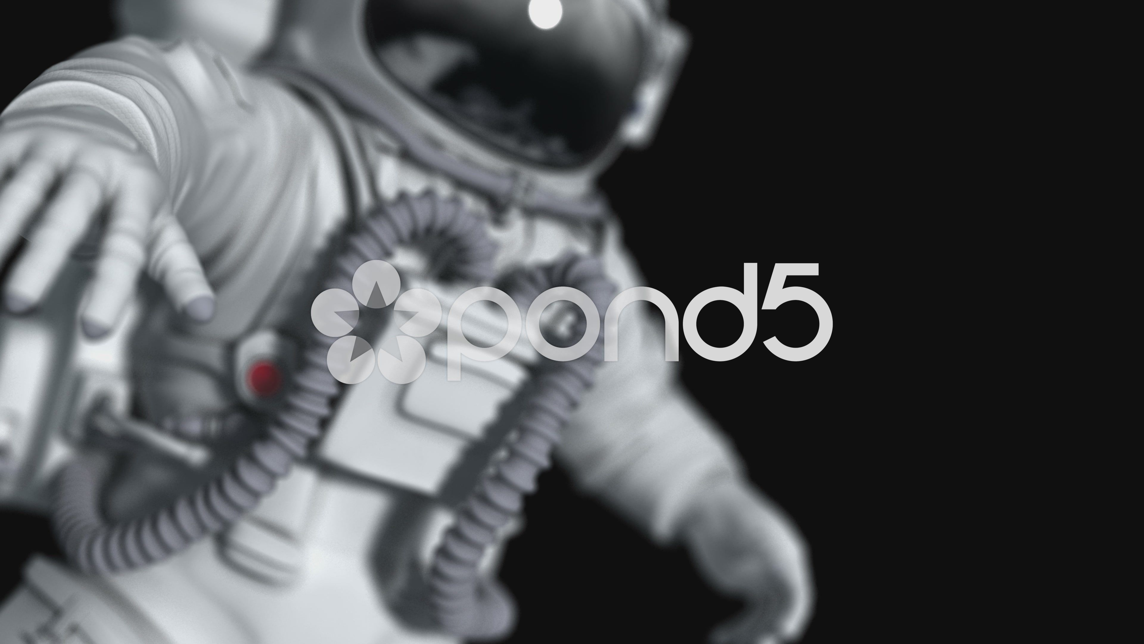 Astronaut At Open Space Scientific 3d Animation Stock Footage