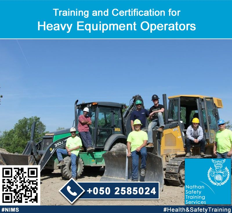 Many construction companies require training and