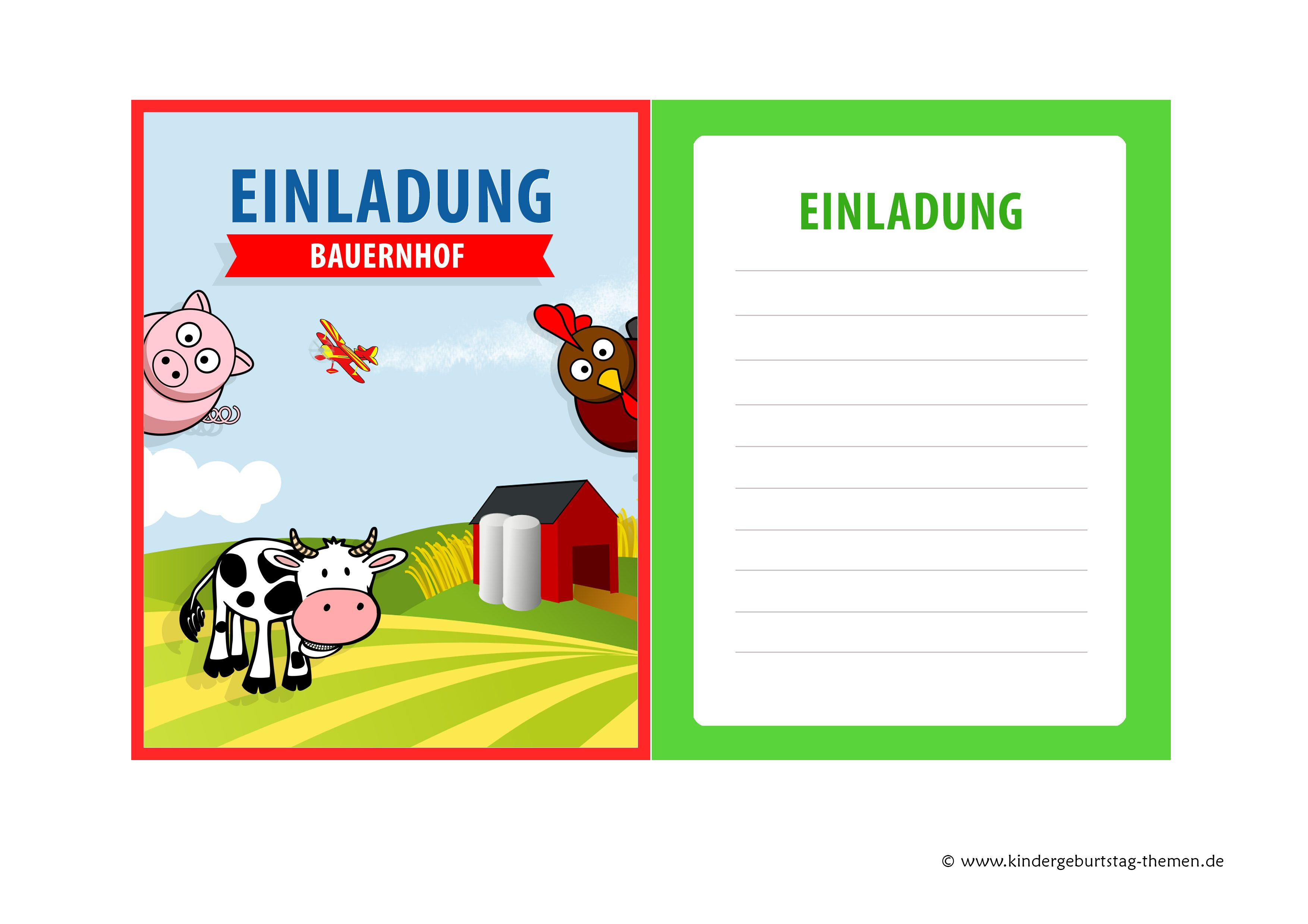 einladungskarten kindergeburtstag kostenlos