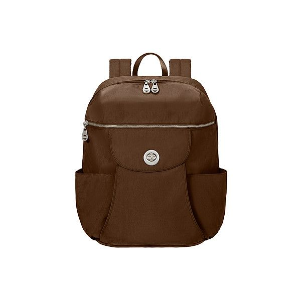 Baggallini Capetown Backpack Backpacks ($88) ❤ liked on Polyvore featuring bags, backpacks, mocha, padded laptop backpack, laptop tablet bag, backpacks bags, brown bag and baggallini bags