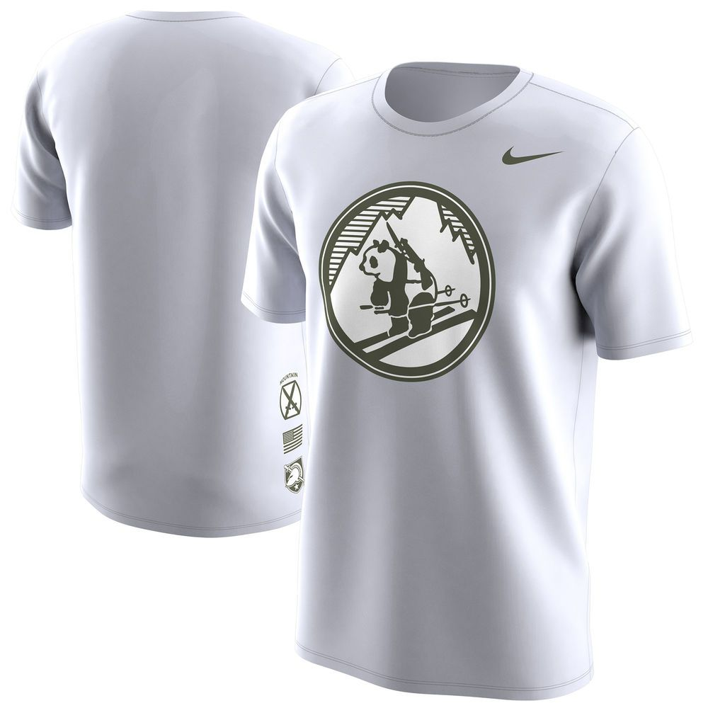 Men's Nike White Army Black Knights Pando Commando T-Shirt