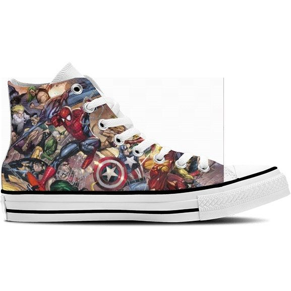 Marvel™ High Top Sneakers | Marvel shoes, Converse, Sneakers