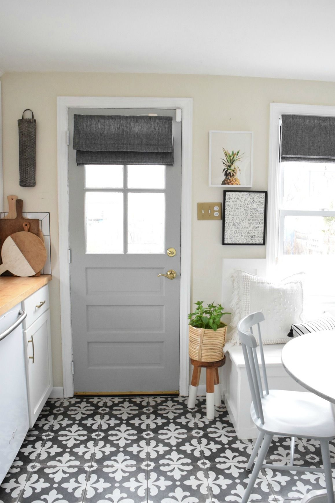 New Roman Shades In The Kitchen Blogger Home Projects We Love