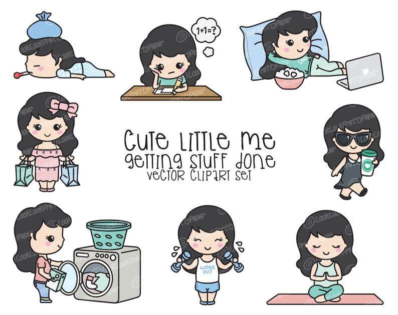 Premium Vector Clipart Cute Me Kawaii Girl Cute Girl Etsy In 2021 Clip Art Kawaii Vector Clipart