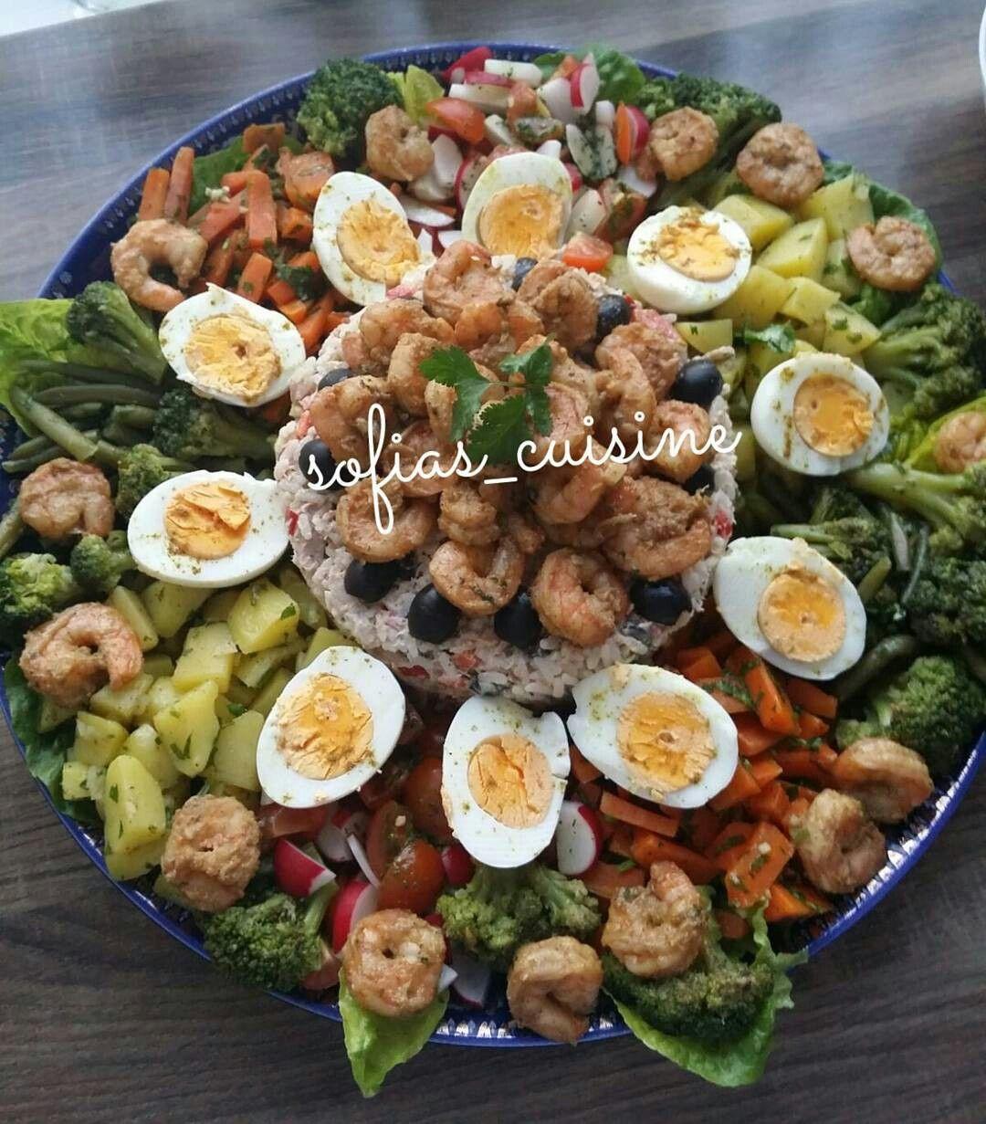 Épinglé par Noura Sea sur feestsalades/partysalades   Cuisine marocaine, Idée recette salade ...