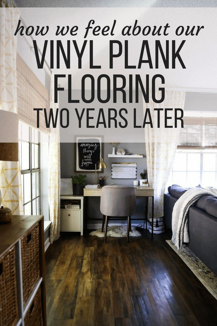 A vinyl plank flooring review looking at Lowe's Style
