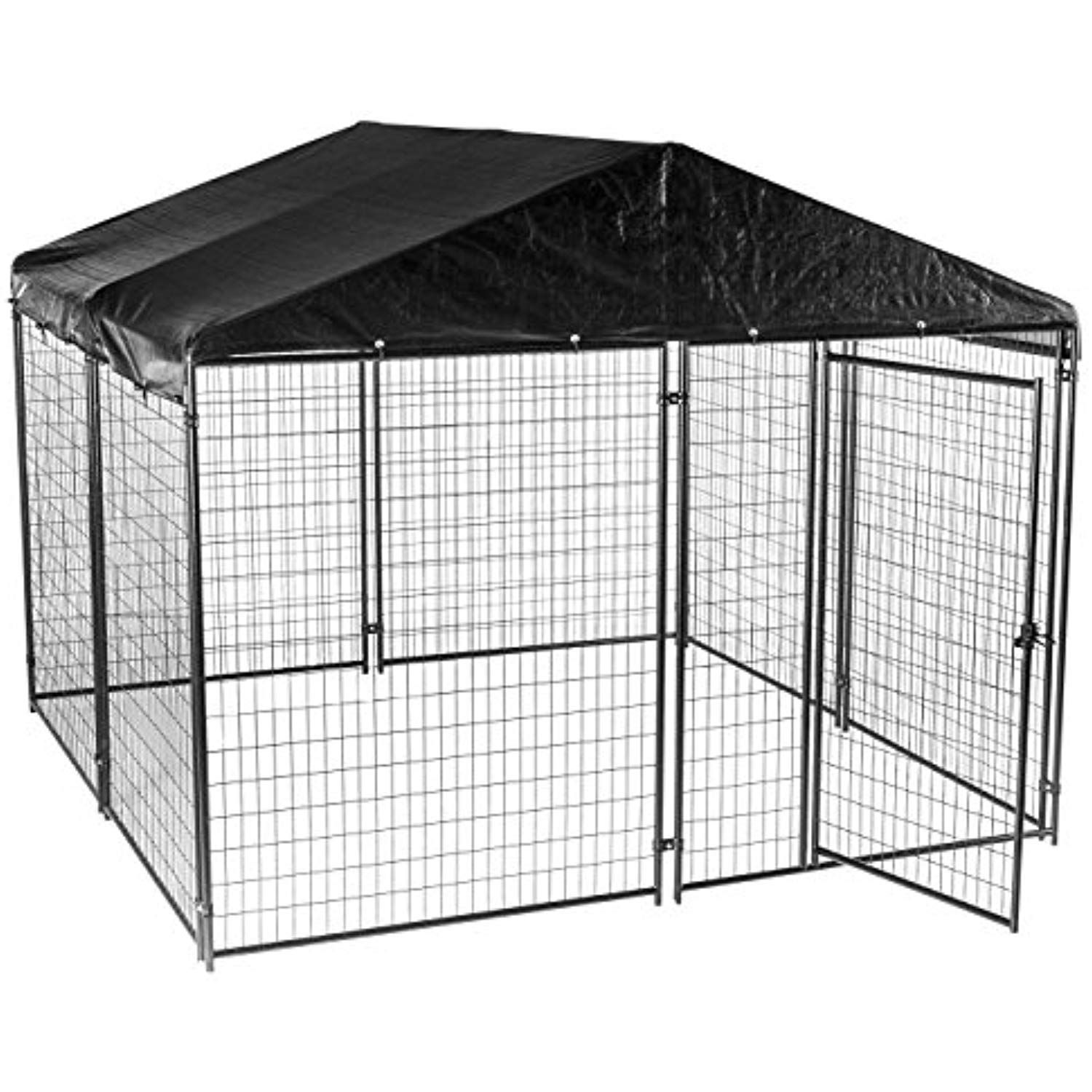 Lucky Dog Modular Box Kennel w/Roof and Cover (6'H x 10'L