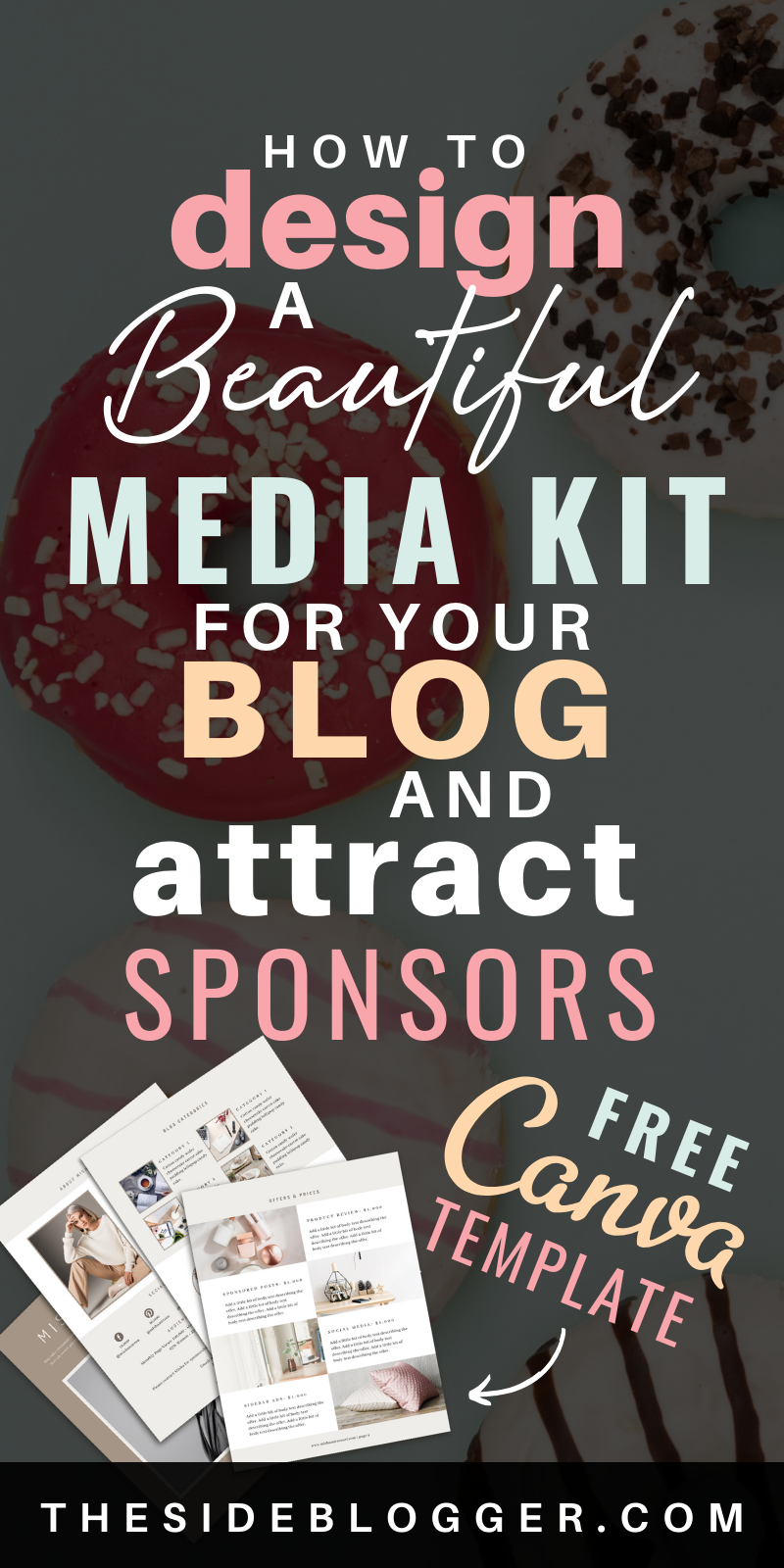 Do you want to make money blogging with sponsored posts and social media content? Then learn how to design a media kit that'll get those high-ticket brands and companies dying to work with you. In this post, you'll learn how to design a beautiful and functional media kit that actually works! Includes a free, 4-page media kit template in Canva. #mediakit #bloggingresources #makemoneyblogging #bloggingtips #canvaresources #canvatemplates