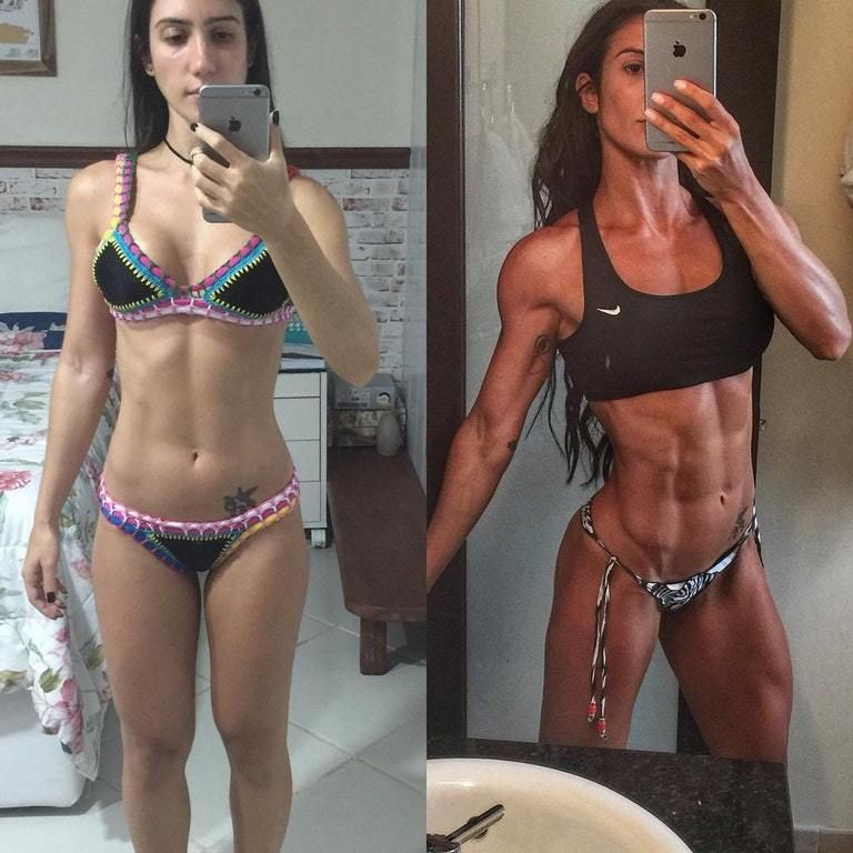 Before After Female Muscle Bodybuilders and Weight Loss