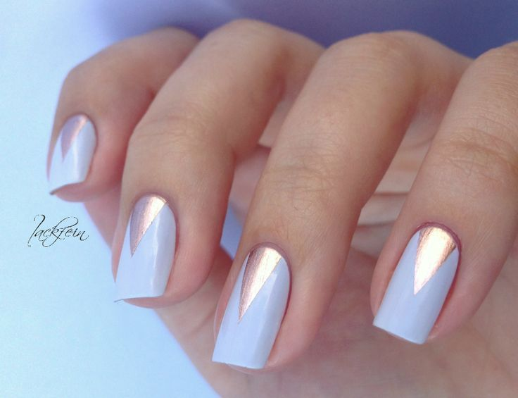 Rose gold and pale blue.   Nails   Pinterest   Nail tape, Happy ...