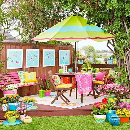 Colorful Backyard Makeover