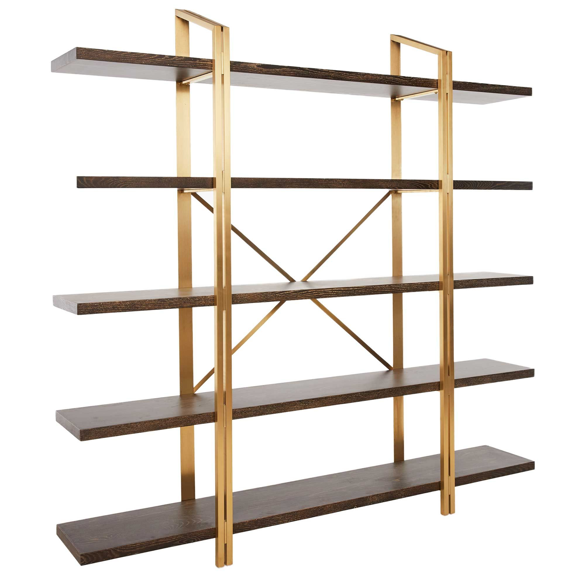Crafted from stainless steel with an oak veneer, the Maximillion shelf offers a modern alternative to your traditional bookcase.