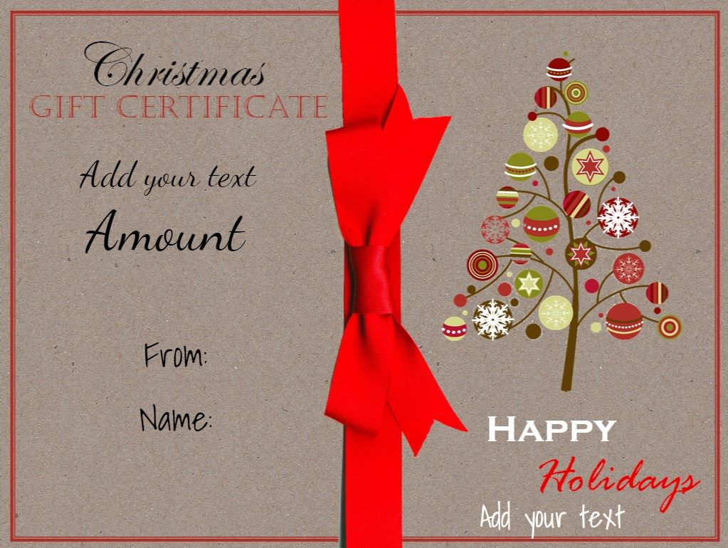 Christmas Gift Certificate Template 161g 1023770 Pixels Gift