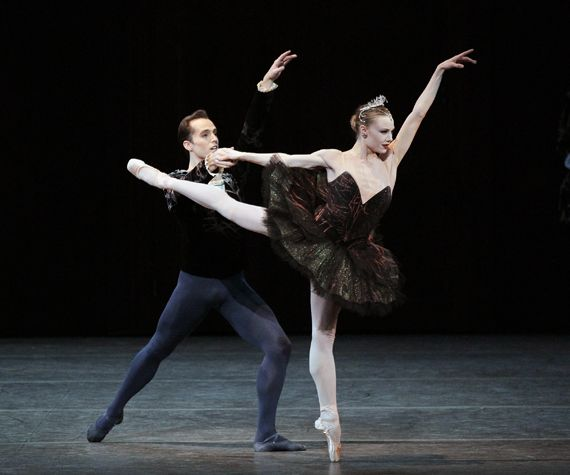 The amazing ballerina Sara Mearns as Swan Queen Odette-Odile in - dance resumeresume prime