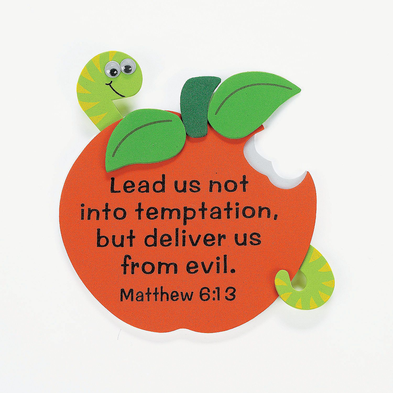 apple with bible verse magnet craft kit orientaltrading com