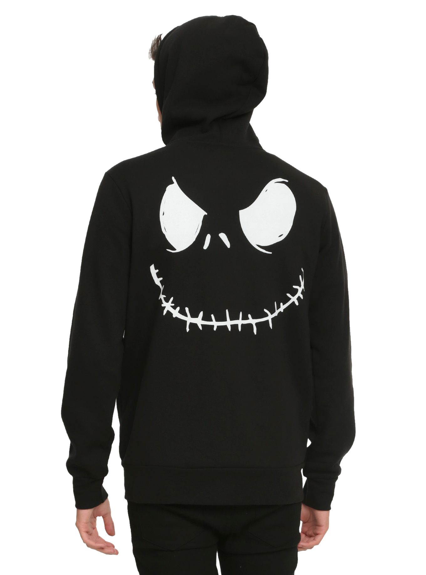 The Nightmare Before Christmas Jack Face Hoodie | jack skellington ...