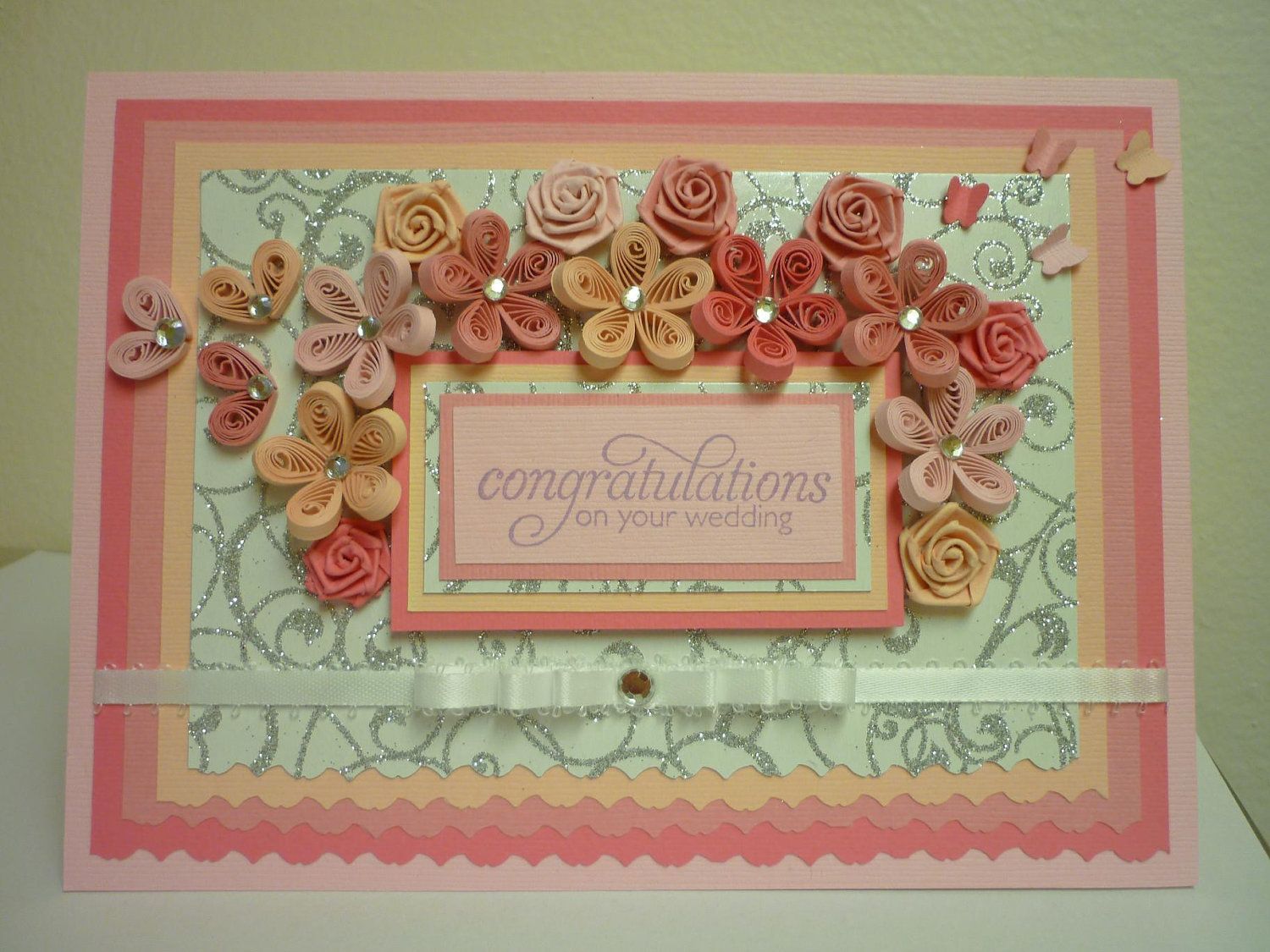 wedding quilled card with images  quilling cards cards
