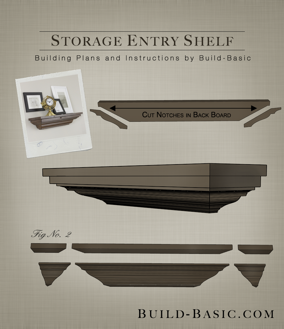 HIDDEN STORAGE in this DIY Crown Molding Shelf. Click the image for FREE building plans by @BuildBasic .build-basic.com #DIY #Woodworking #BuildingPlans & HIDDEN STORAGE in this DIY Crown Molding Shelf. Click the image for ...