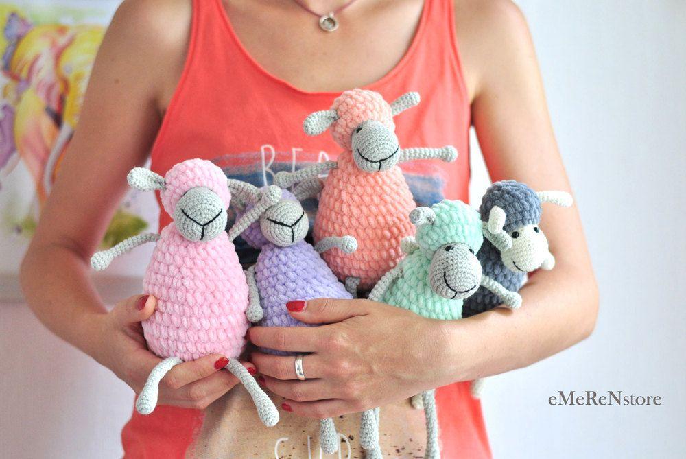 Сrochet sheep pattern,Cute sheep, amigurumi pattern, lamb pattern, crochet animals, PDF pattern, crochet toy pattern by EmerensLove on Etsy