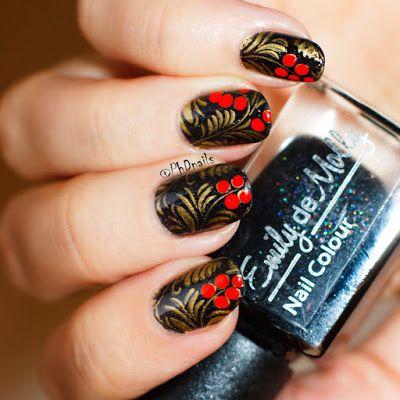 Phd Nails November Macro Challenge Khokhloma Nail Art Wit