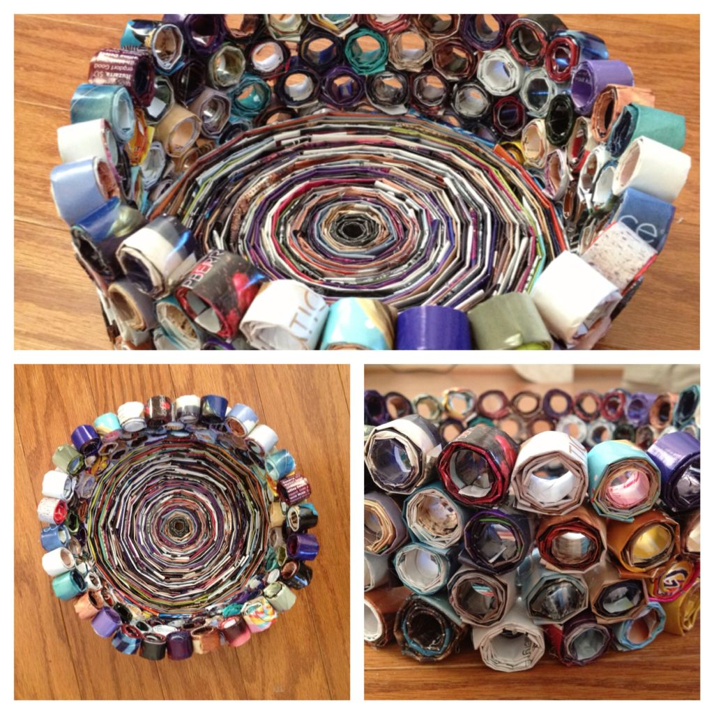 Life In My Empty Nest Recycled Magazine Bowl Pinterest Success 7 Recycled Magazine Crafts Magazine Bowl Magazine Crafts