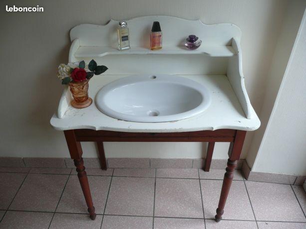 Ancien Meuble De Toilette Avec Vasque Encastree Meuble