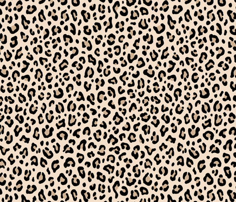 Colorful Fabrics Digitally Printed By Spoonflower Black And White Leopard Leopard Print In Ecru Medium Scale Collection Leopard Spots Punk Rock An In 2021