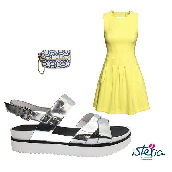 ¡Verano no acabes nunca! Amamos las sandalias, los vestidos, los colores vivos... ¿qué os parece este look? mod.5010 plata http://goo.gl/RQx5gG #outfit #ootd #outfitoftheday #lookoftheday #look #lookdeldia #sandalias #bolso #vestido #isteriashoes