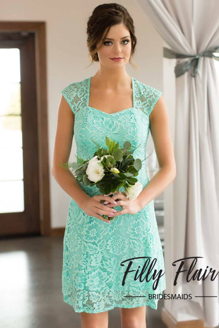 Celeste bridesmaid dress in mint lace bridesmaids weddings and