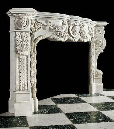 Britannicus Stone loves....Marble Fireplace Mantle Surround | Italian Romanesque