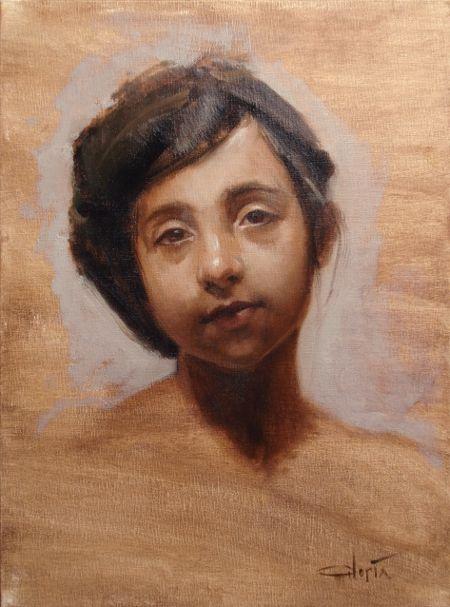 Lisa Gloria (alla prima painting)