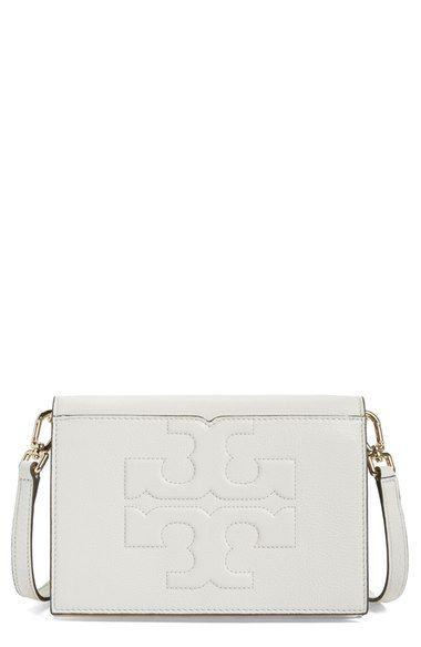 40fef025c TORY BURCH 'Bombe T' Leather Convertible Crossbody Bag. #toryburch #bags  #shoulder bags #leather #crossbody #lining