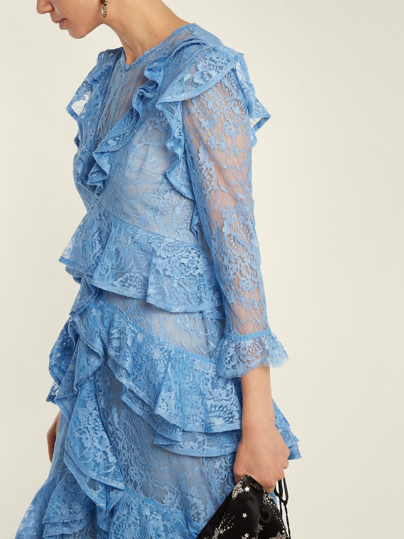 Koral ruffle-trimmed lace dress Erdem Discount Wholesale Price 8lgcEncE