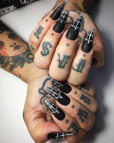 80 Stilleto Acrylic Long Nails 2017 With Images Goth Nails Halloween Nails Horror Nails