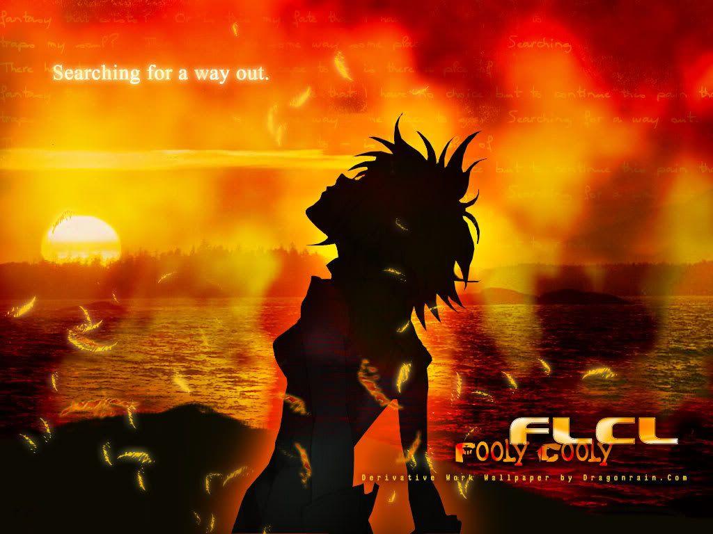 FLCL inspired art by Dragonrain.com