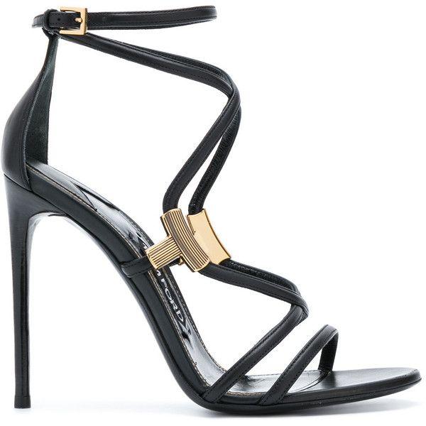 metallic detail sandals - Black Tom Ford WvttRj