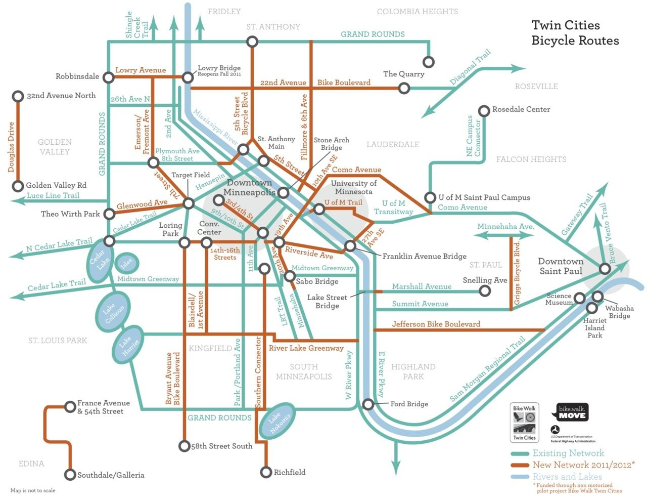 Minneapolis Subway Map.Mn Stuff About Minneapolis Bike Trails And Routes Bike Trails